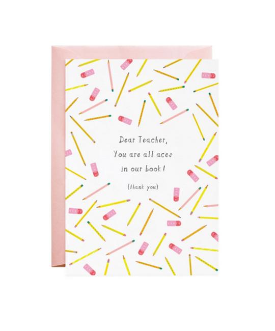 Mr. Boddington's Studio - MB You are All Aces (Thank You Teacher) Card