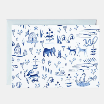 Mr. Boddington's Studio - MB Forest Animal Toile, Set of 6