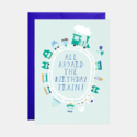 Mr. Boddington's Studio - MB All Aboard the Birthday Train Card