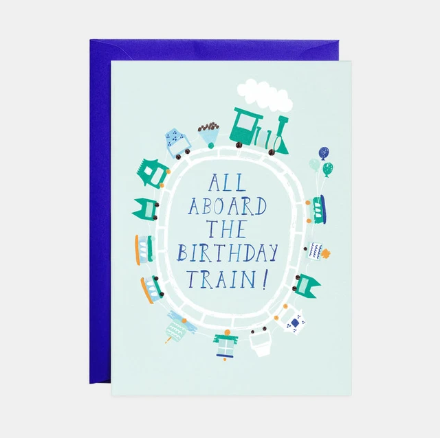 Mr. Boddington's Studio - MB All Aboard the Birthday Train Card