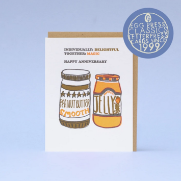 Egg Press - EP PB & J Anniversary Card