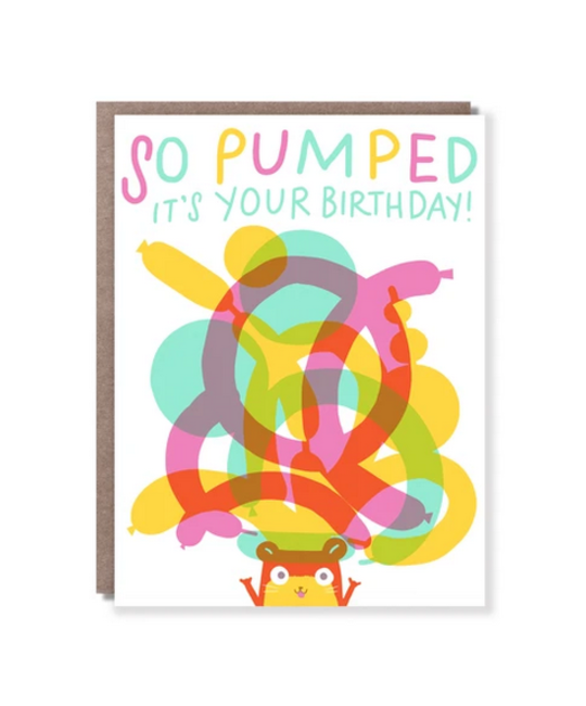 Hello!Lucky - HL Pumped Birthday Card