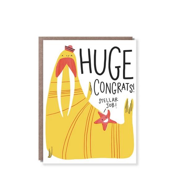 Hello!Lucky - HL Walrus Congrats Card