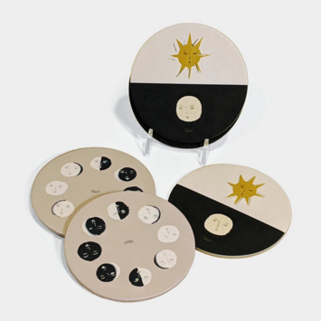 Seedlings - SED Moon Phase Coasters, Set of 6