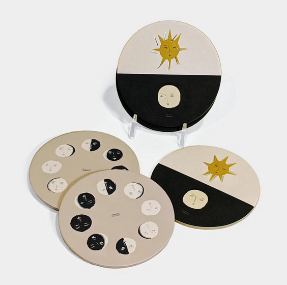 Seedlings - SED Moon Phase Coasters, Set of 6