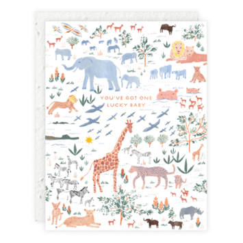 Seedlings - SED One Lucky Baby Jungle Animals Card