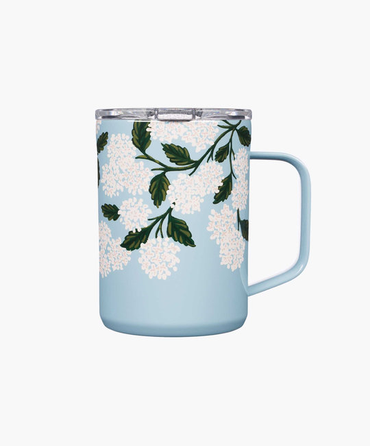 Corkcicle - CO Corkcicle x Rifle Paper - Blue Hydrangea Mug