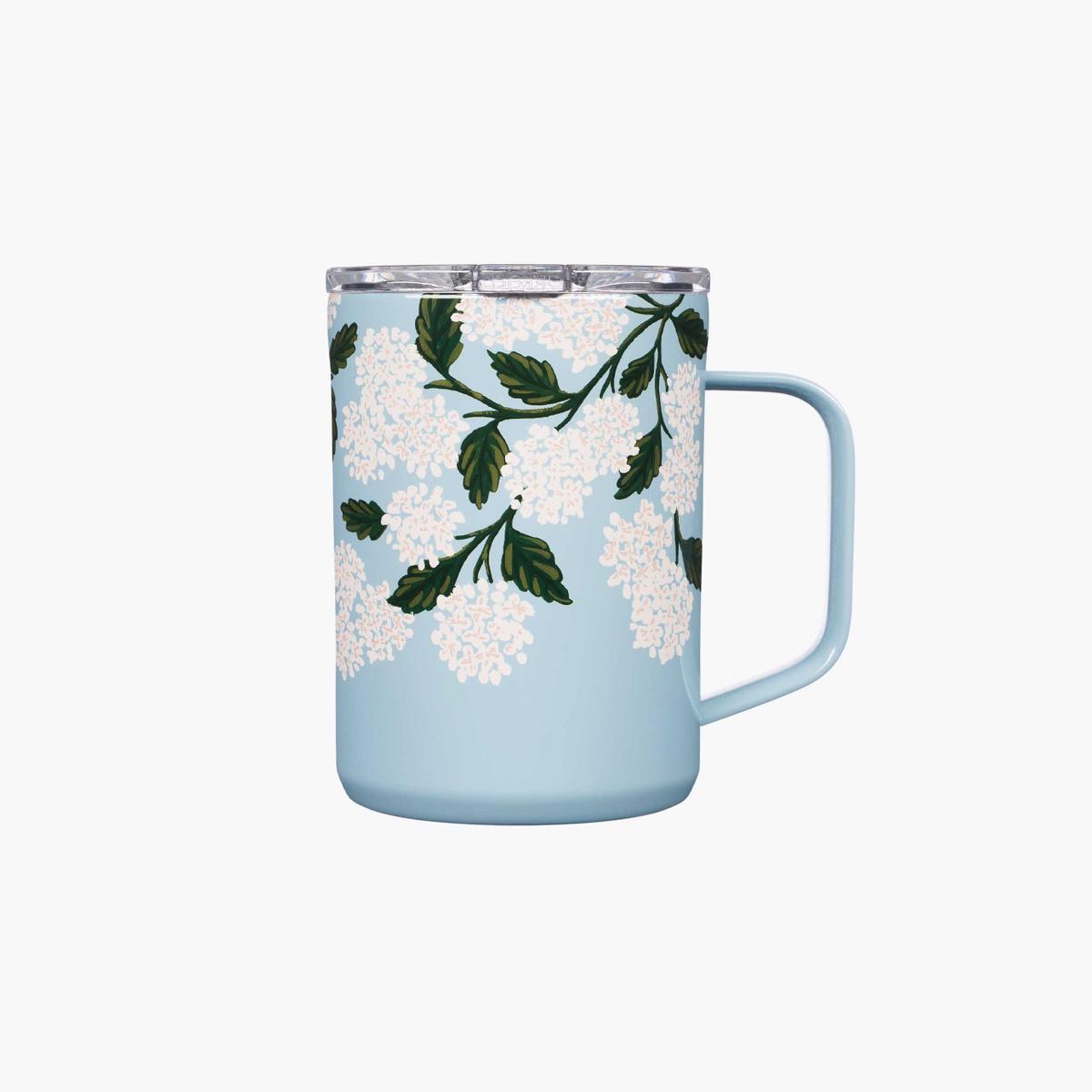 Corkcicle - CO Corkcicle x Rifle Paper - Blue Hydrangea Mug