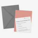 Posterity Paper - POS Birthday Quiz Card