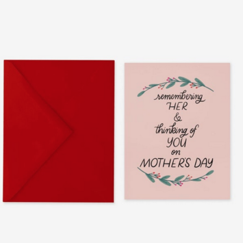 Posterity Paper - POS Remembering Her Mother's Day Card