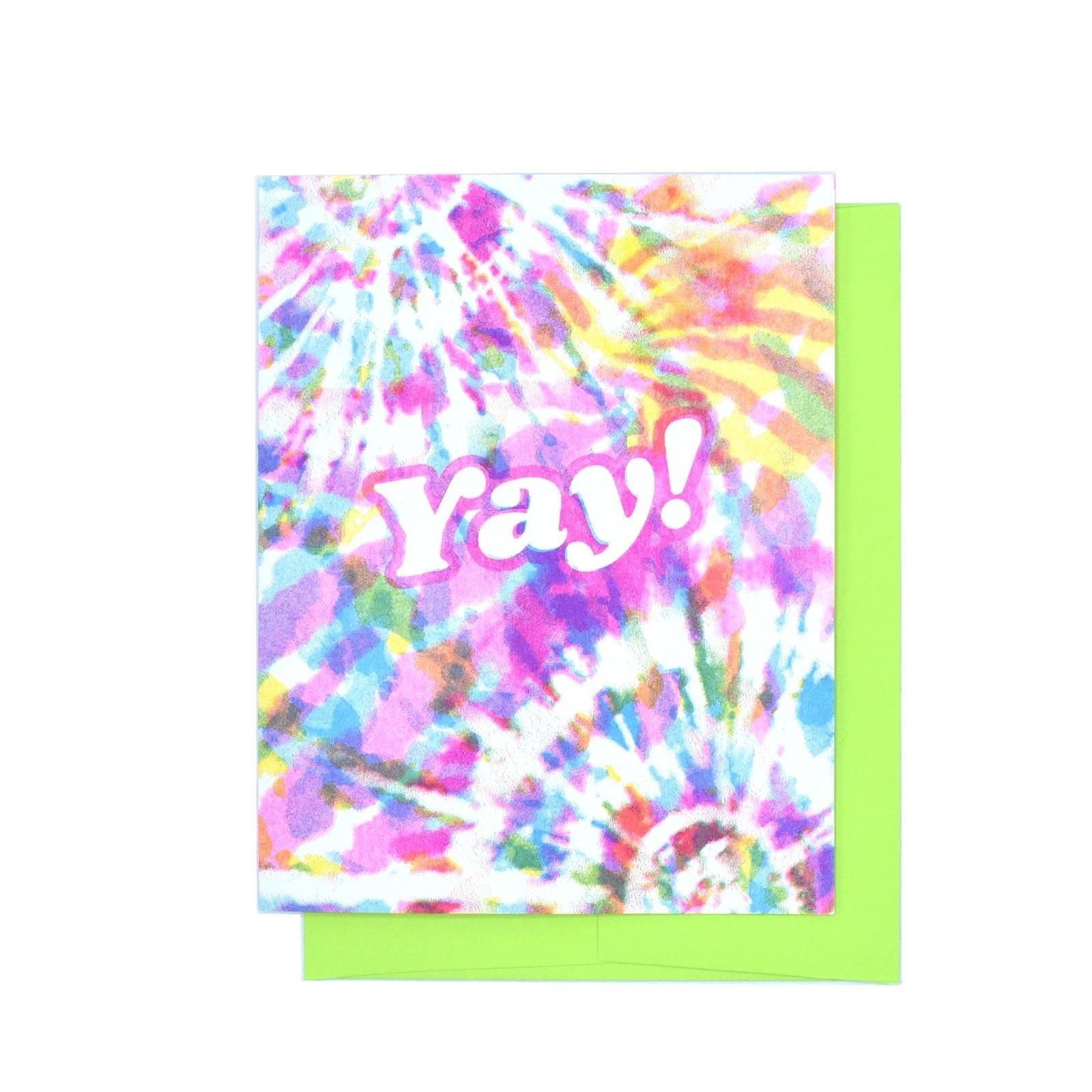 Next Chapter Studio Yay Tie Dye Card