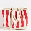 IMMODEST COTTON x Fleabags Small East West Tote, Red & White Stripe Bag