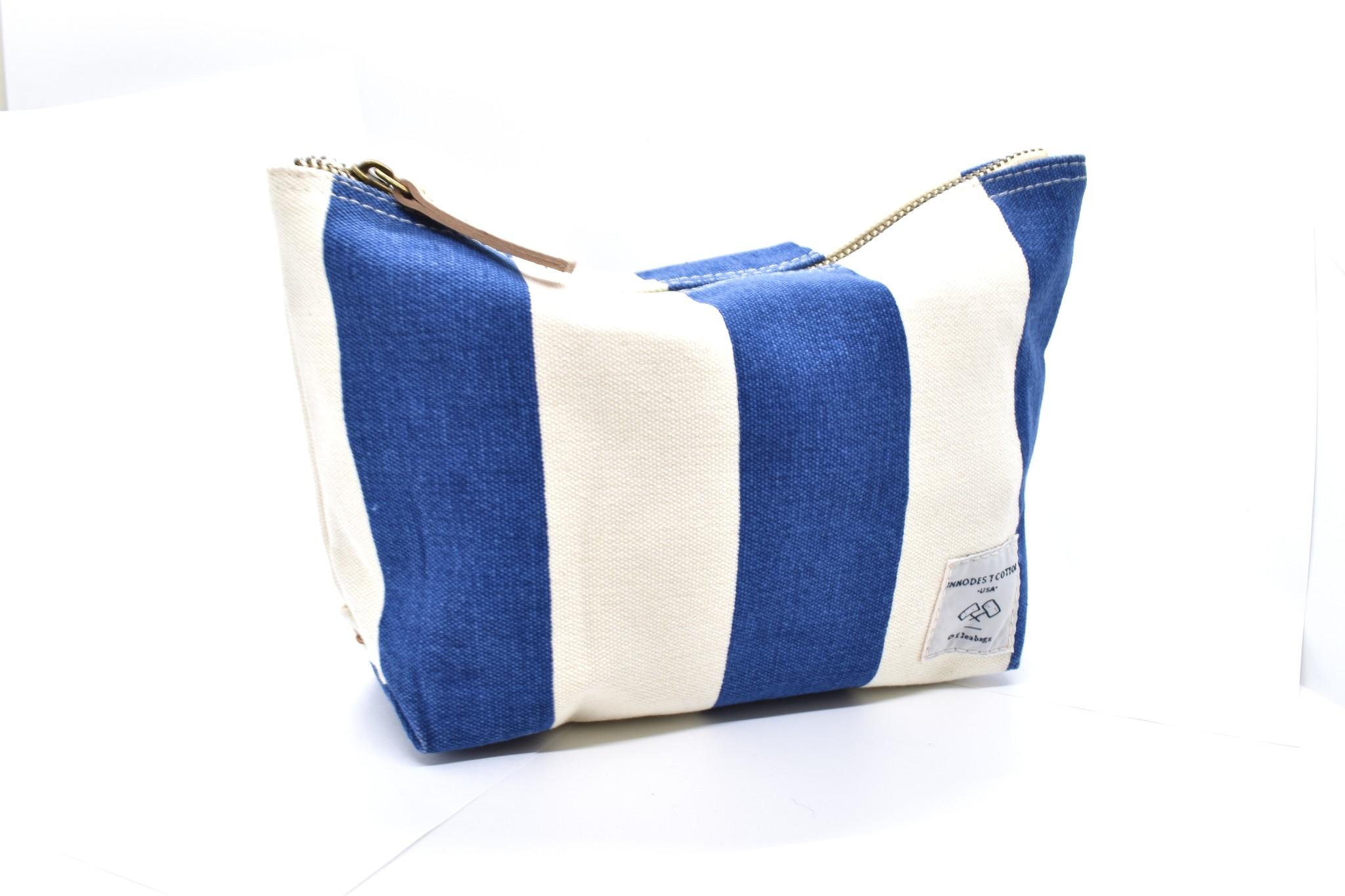 IMMODEST COTTON x Fleabags Sardine Pouch, Blue & White Stripe