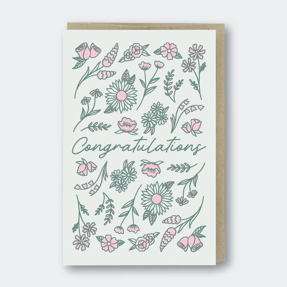 Pike Street Press - PSP Congratulations Flowers Card