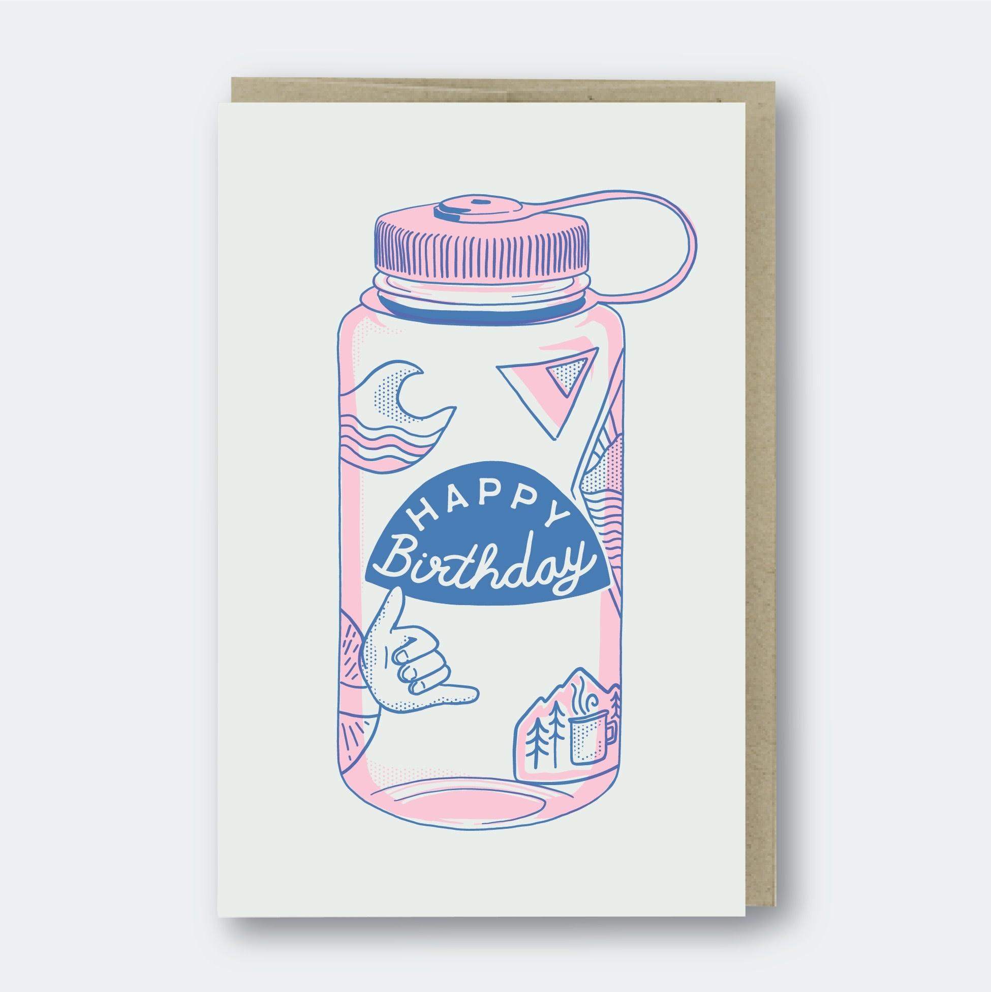 Pike Street Press - PSP Water Bottle Birthday Card