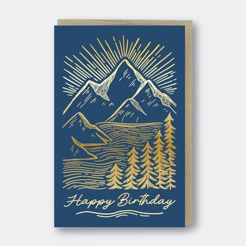 Pike Street Press - PSP Mountainscape Birthday Card