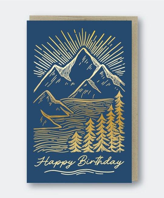 Pike Street Press - PSP Mountainscape Birthday Card