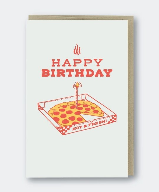 Pike Street Press - PSP Pizza Birthday Card