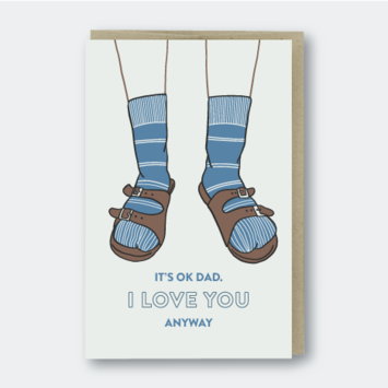 Pike Street Press - PSP Dad Birkenstocks Card