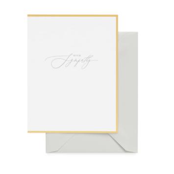 Sugar Paper - SUG With Sympathy Card