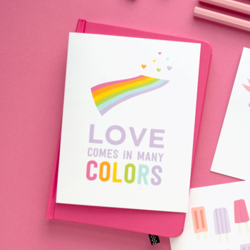Graphic Anthology - GRA Many Colors Love Card
