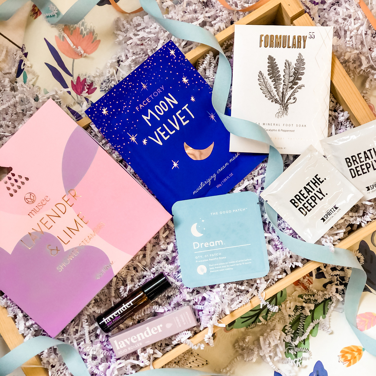 Gus and Ruby Letterpress - GR Breathe Deeply, Relaxation Gift Box
