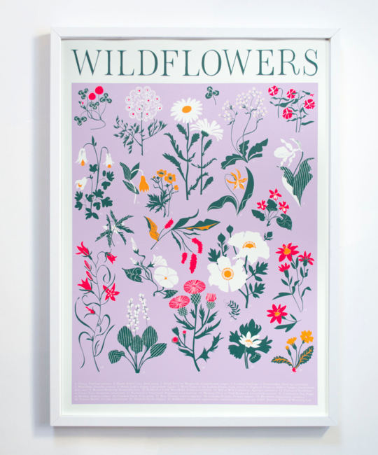 Banquet Atelier and Workshop - BAW Wildflowers Screen Print, 50 x 70 cm