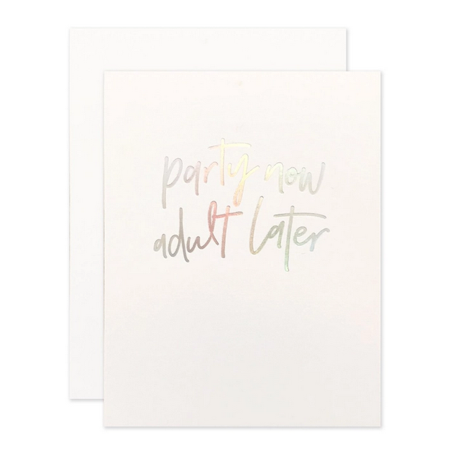 The Social Type - TST Party Now Adult Later Card
