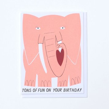 Banquet Atelier and Workshop - BAW Big Elephant Birthday Card