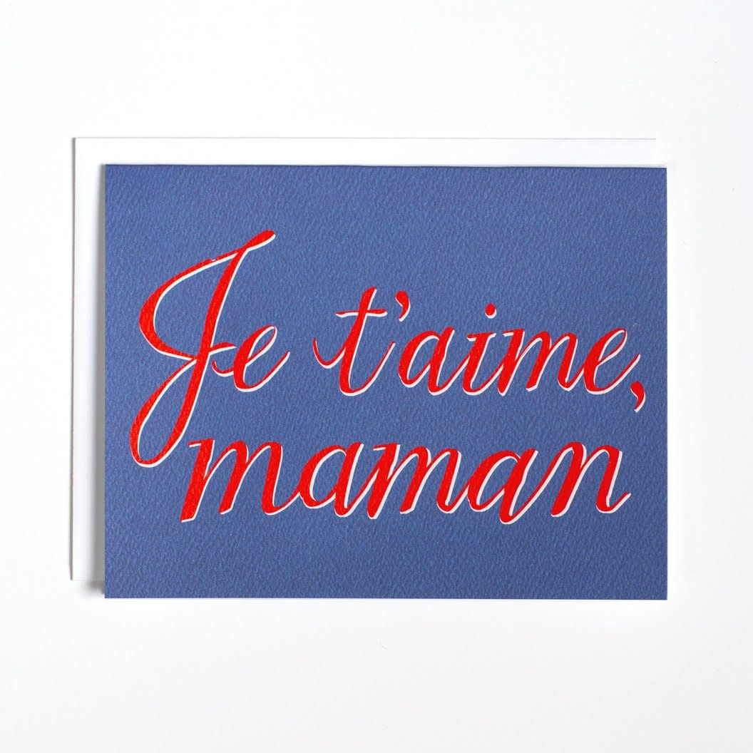 Banquet Atelier and Workshop - BAW Je t'aime Maman, I Love You Mom Card