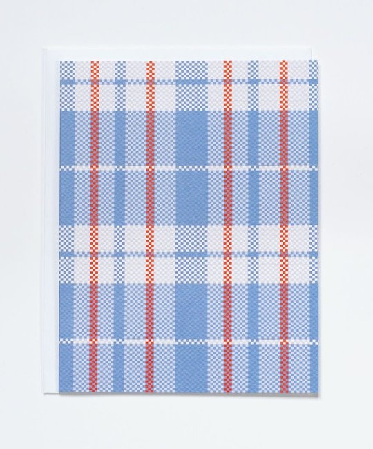 Banquet Atelier and Workshop - BAW Red and Blue Plaid Blank Card