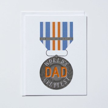 Banquet Atelier and Workshop - BAW World's Greatest Dad Medal Card