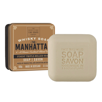 The Scottish Fine Soaps Company - SFS Whisky Soap Tin, The Manhattan