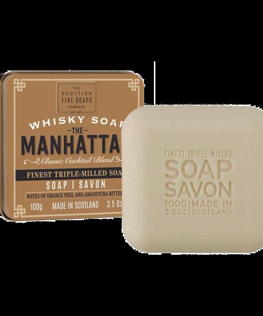 The Scottish Fine Soaps Company - SFS Whisky Soap Tin, The Manhattan