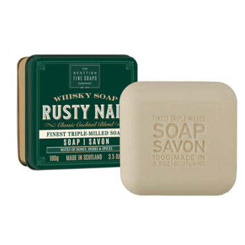 The Scottish Fine Soaps Company - SFS Whisky Soap Tin, Rusty Nail
