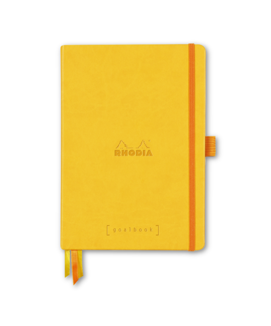 Rhodia - RHO Rhodia Goalbook Notebook A5 Yellow Dot Grid