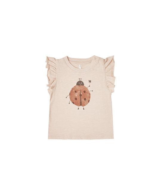Rylee + Cru - RC Rylee + Cru Catepillars Longsleeve Tee Ladybug Ruffle Tank