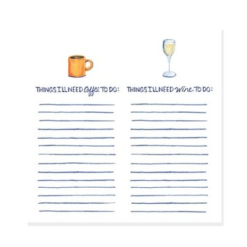 The Lavender Whim Coffee and Wine Note Pad