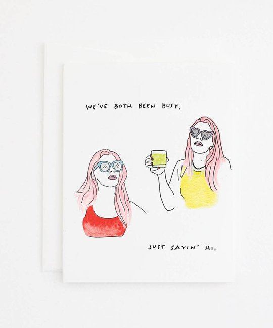 Party Sally Busy Friend Card