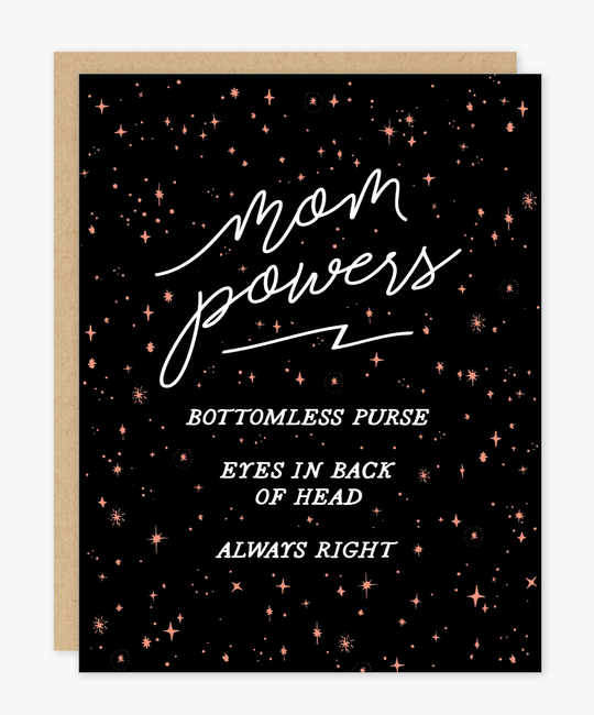 Party of One - POO Mom Powers Card