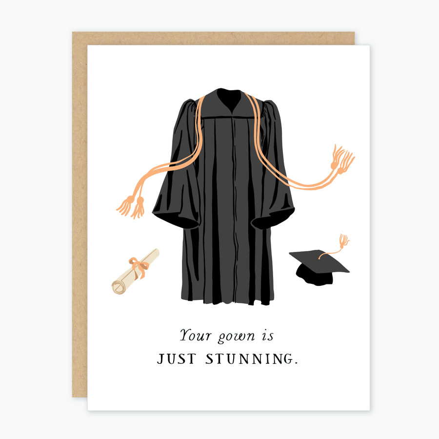 Party of One - POO Stunning Gown Graduation Card