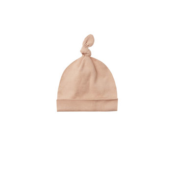 Quincy Mae - QM QM BA - Knotted Baby Hat in Petal