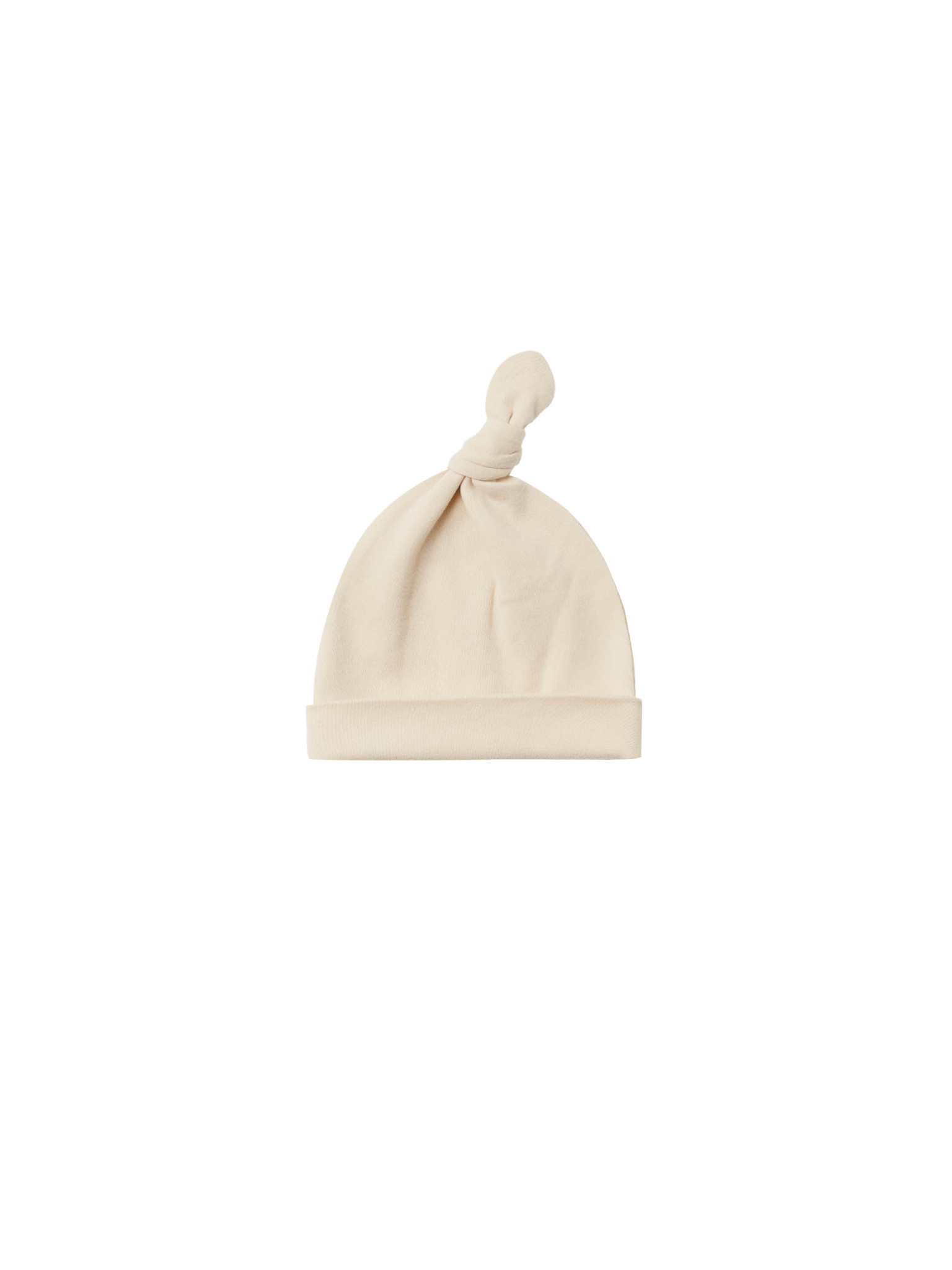 Quincy Mae - QM QM BA - Knotted Baby Hat in Natural