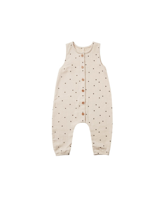 Quincy Mae - QM Quincy Mae Stars Woven Button Jumpsuit