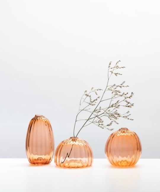 Little Tomato Glass - LTG Round Buddies Vase, Apricot