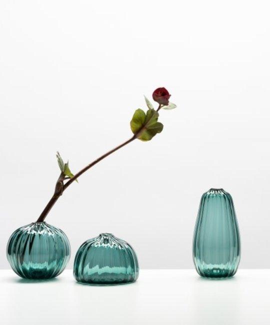Little Tomato Glass - LTG Tall Buddies Vase, Steel Blue
