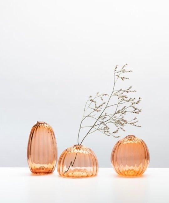 Little Tomato Glass - LTG Tall Buddies Vase, Apricot