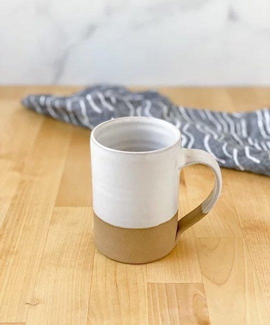Rhyno Clayworks Rustica Tall Mug, White