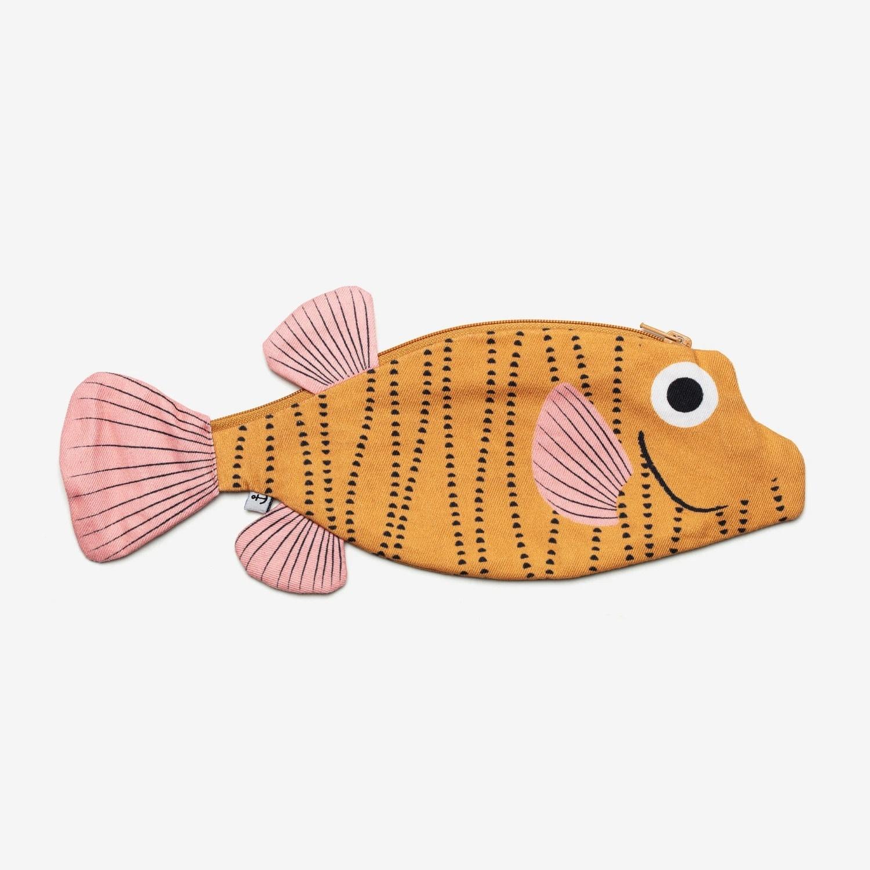 Don Fisher Don Fisher Yellow Boxfish Fish Pouch