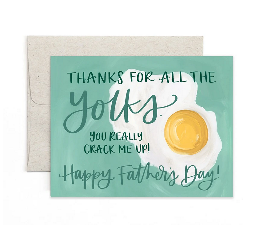 One Canoe Two Letterpress - OC Father's Day Yolks Card